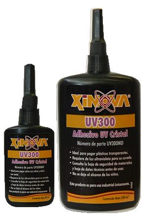 Adhesivo para pegar vidrio y metales UV300